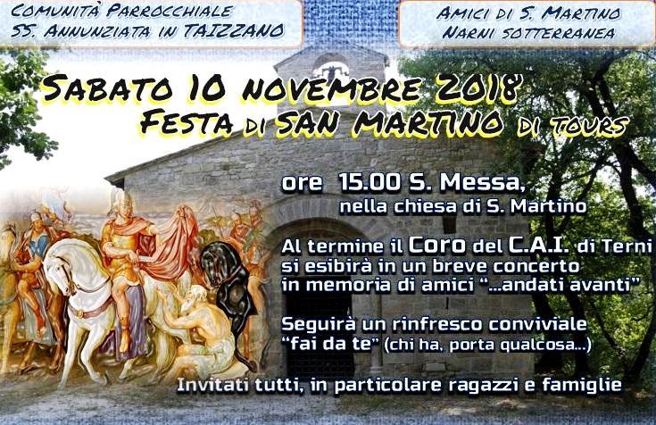 Giorno Di San Martino Calendario.Narnionline Com Taizzano Sabato 10 Novembre Si Festeggia